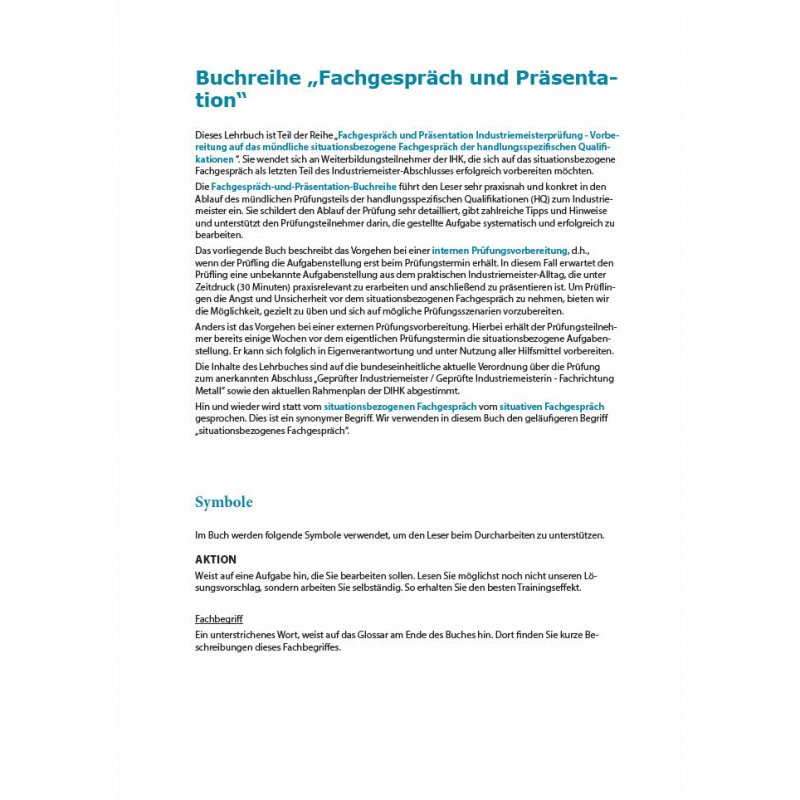 Fachgespräch und Präsentation für Industriemeister (IH
