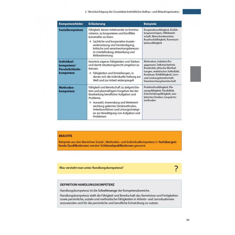 betriebswirtschaftliches handeln industriemeister lehrbuch betriebswirtschaftslehre betriebswirtschaftliches handeln - Schlusselqualifikationen Beispiele